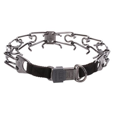 Black Stainless Steel Prong Collar (3.2 mm x 20 1/2 inches)