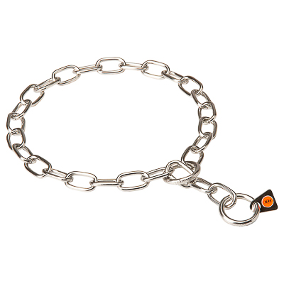 Stainless Steel Medium Sized Link Chain Collar - 1/9 inches (3.0 mm)